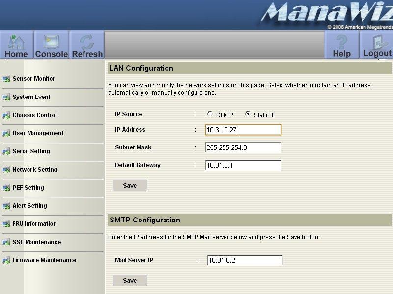 server SGI Rackable - management